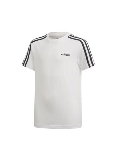 adidas Unisex Çocuk Yb E 3S Tişört DV1800 Beyaz
